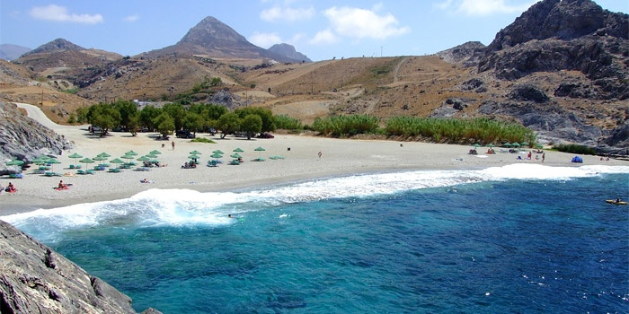 Shinaria Beach in Plakias, Rethimno, Crete