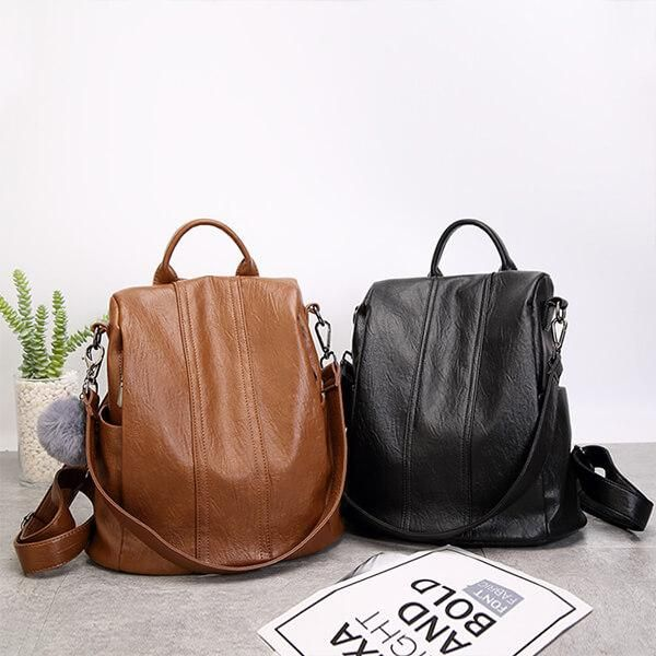 35cd8049a6c1 Soft Leather Tote Casual Backpack( checkout   enter code MC10 to ...