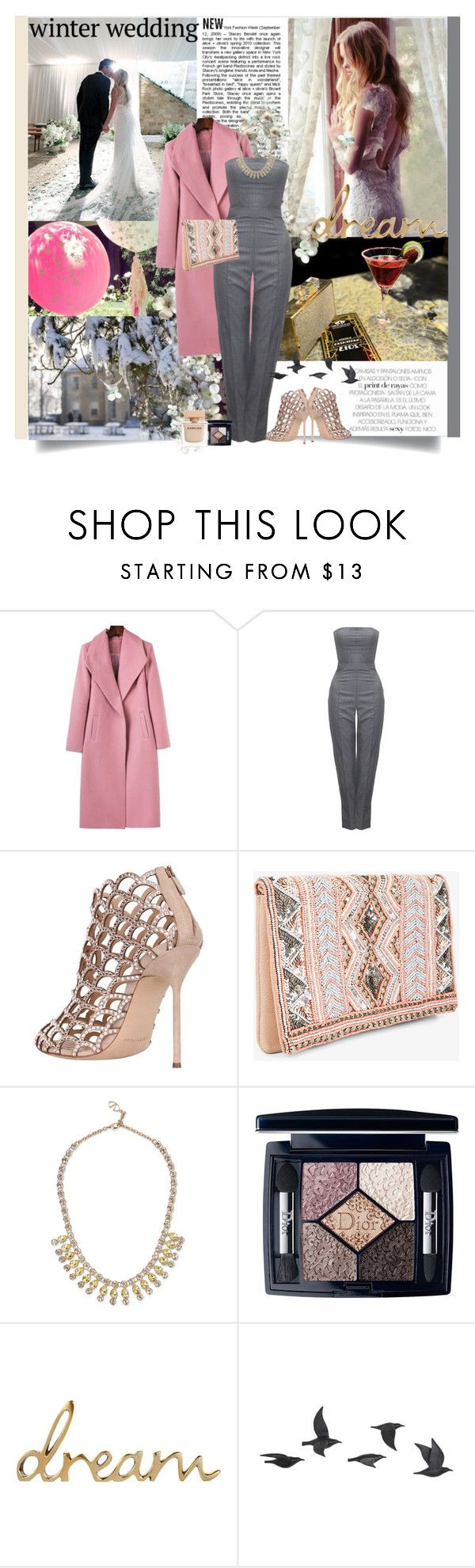 """""""Winter wedding"""" by prudence-sarah ❤ liked on Polyvore featuring Lauren Conrad, Alexander McQueen, Sergio Rossi, Pijama, BCBGeneration, Valentino, Christian Dior, Jayson Home, Narciso Rodriguez and winterwedding"""