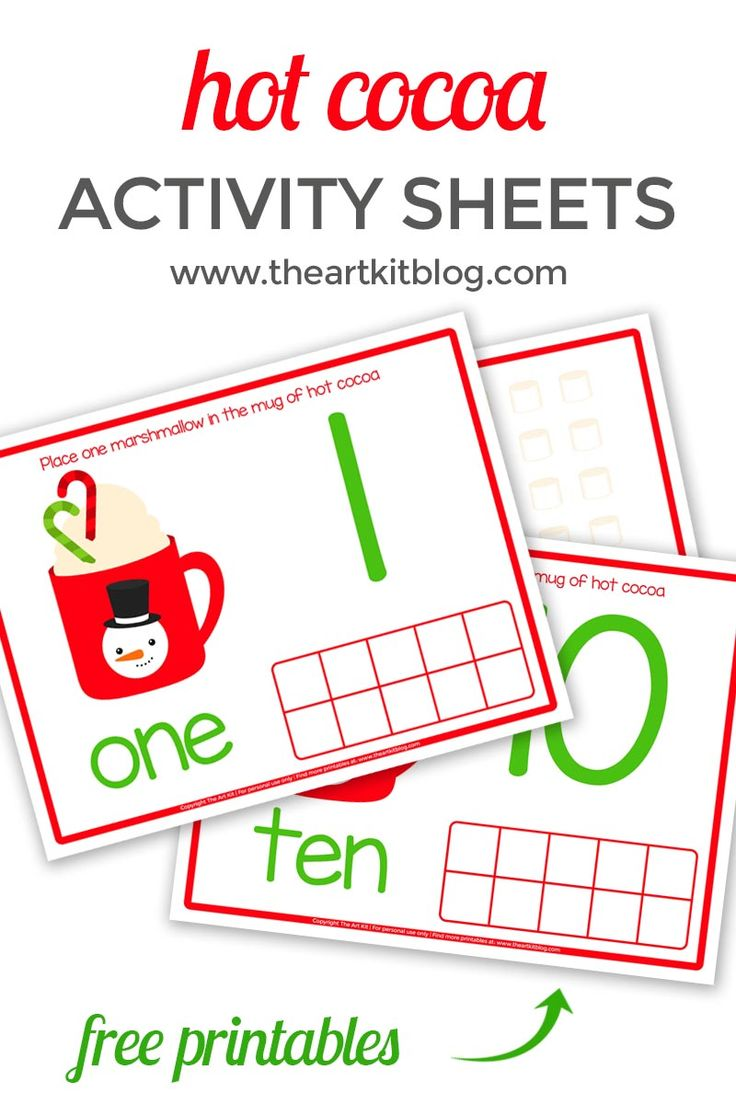 We're back with more fun winter-themed printables for you! Today we're sharing a set of hot cocoa number activity sheets, perfect for practicing those numbers. To discover our recommendations for printing and laminating (and how we like to save money in the process), as well as how you can download these hot cocoa number activity sheets for free, please continue reading below. via @theartkit