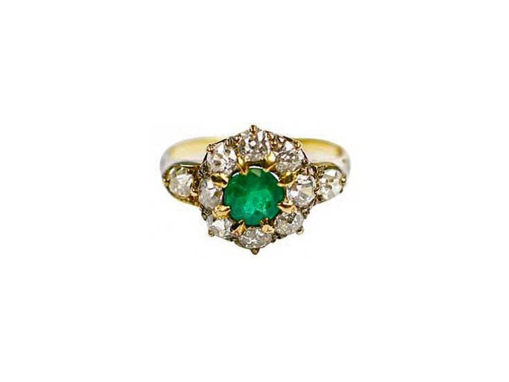 Emerald and diamond ring in gold, from Karni Jewellers.