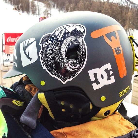 Anon snowboard skate car window bumper stickers decals helmet Pair