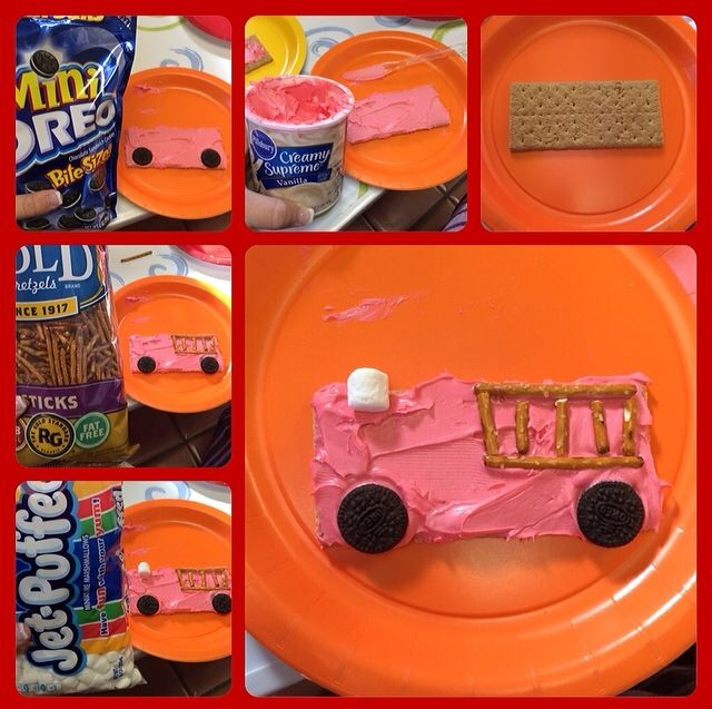 fire truck graham cracker snack - Google Search