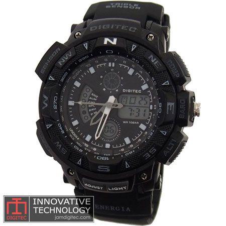 jam tangan digitec energia DG-2044T hitam abu abu
