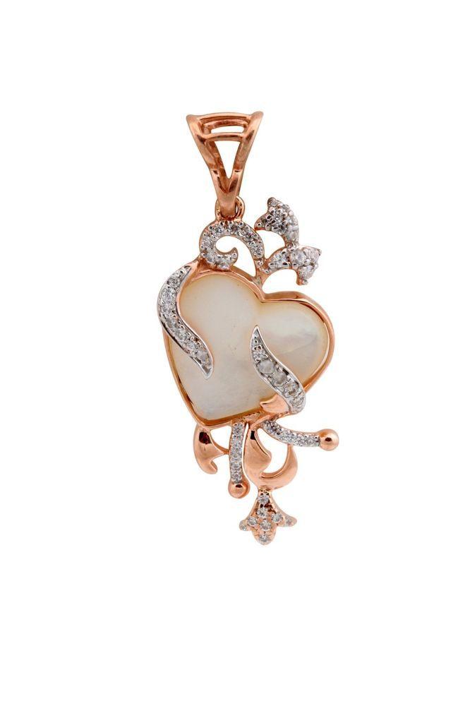 "Attractive 0.45 carat White Diamond ""Heart Shape"" Pendent in 925 sterling silver #FacetsJewels #HeartShapePendant"
