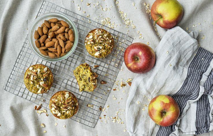 Morgenmadsmuffins med æble og rosin