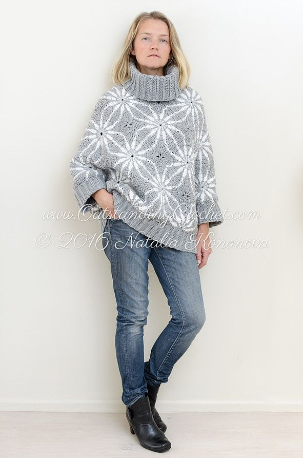Outstanding Crochet: New Crochet Pattern is posted - Polar Star Poncho ...