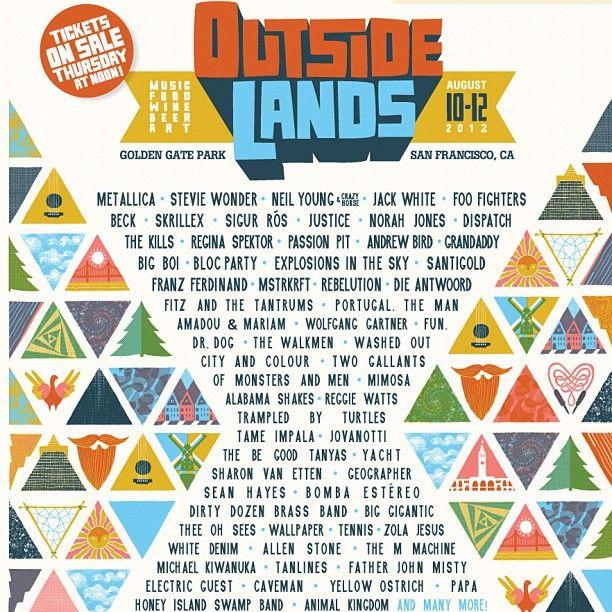 Outside Lands Music Festival 2012 at Golden Gate Park in San Francisco, California