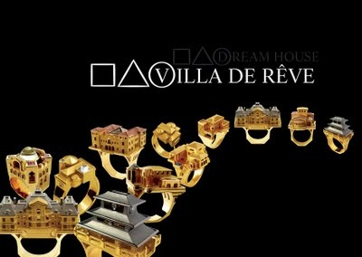Wear Your Dream House On Your Finger. The Villa de Reve Collection from Philippe Tournaire. ~ Many close-up photos too, including a few as they're being made
