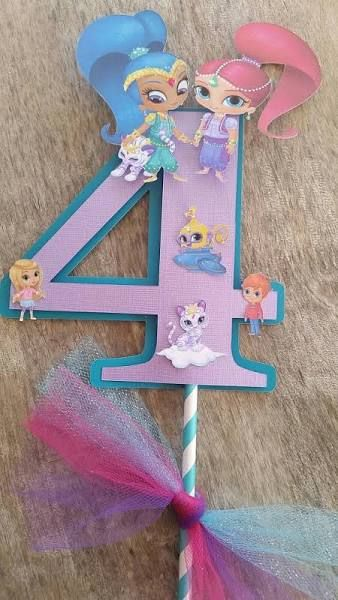 shimmer and shine nick jr cake topper - Google Search