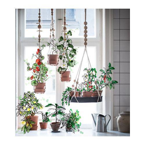 ANVÄNDBAR Ampel för kruka IKEA Handgjord av en skicklig hantverkare. Med växter…