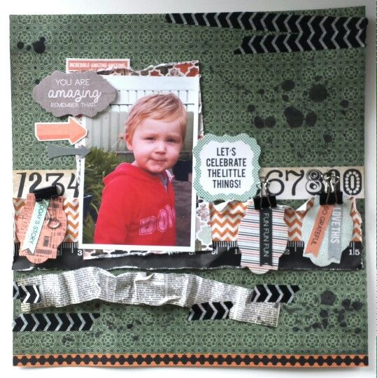 Kaisercraft: Mister Fox Collection. Scrap and Play Challenge #8