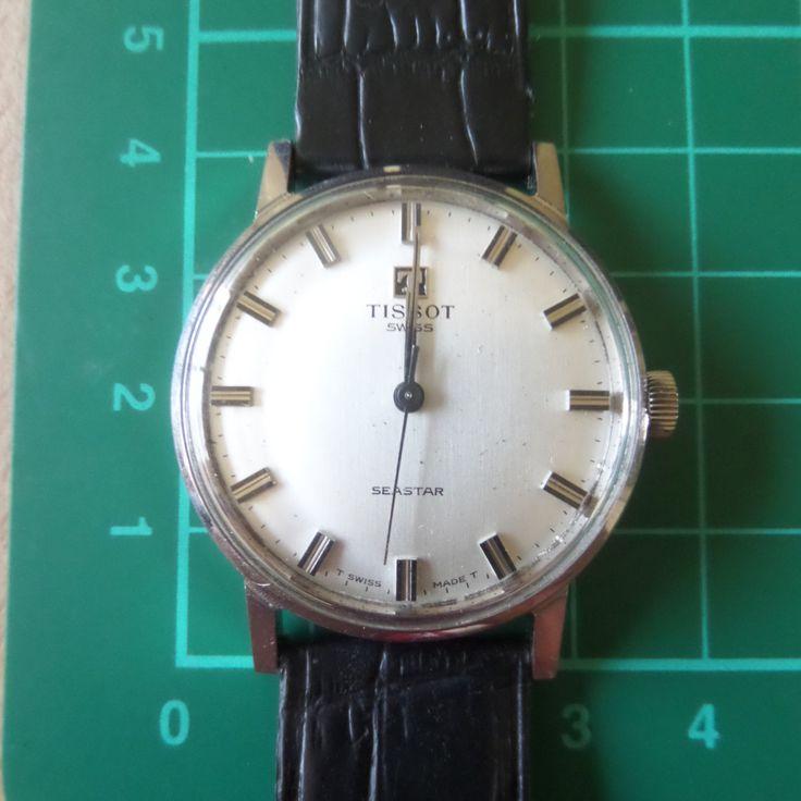 TISSOT SEASTAR - 1969 Vintage - Guaranteed Genuine, Swiss made Gents/Mens mehanical mechainsim wrist watch by EWcoLondon on Etsy