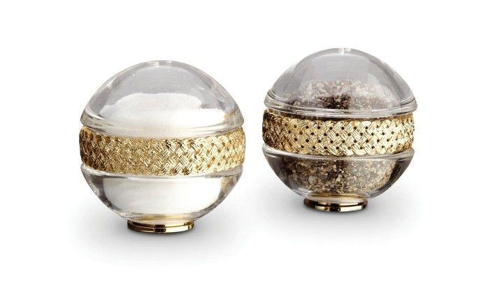 L'Objet, Braid Spice Jewels Salt & Pepper Set. Buy Online at LuxDeco.com.