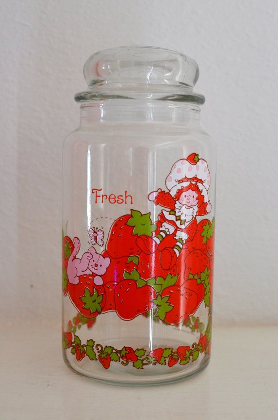 80s Strawberry Shortcake Jar / Storage / by pinkysvintagefinds, $5