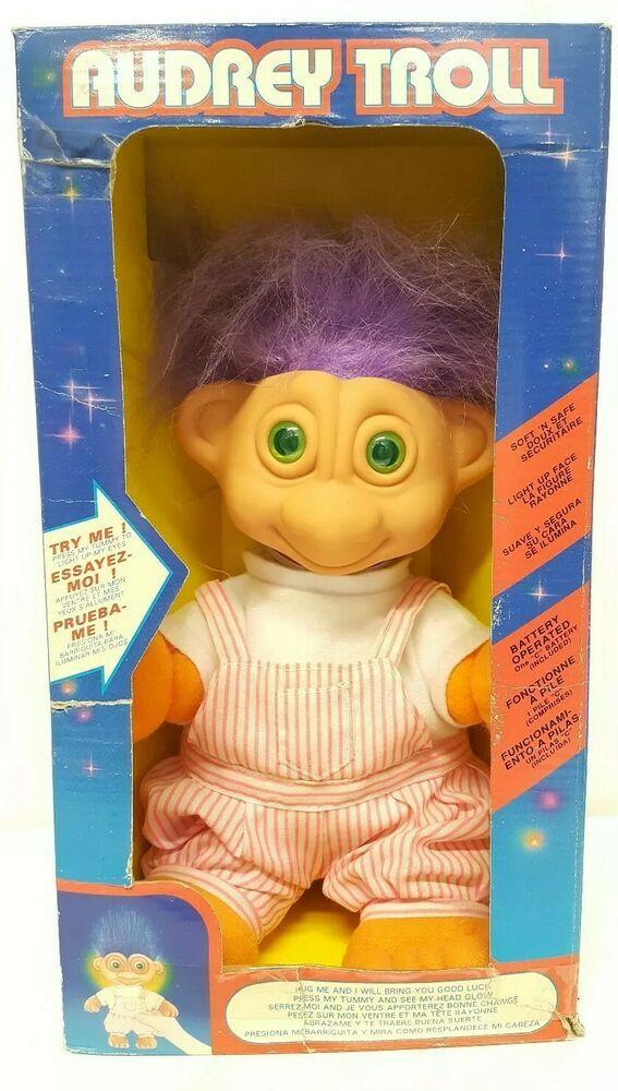 NEW IN ORIGINAL WRAPPER Pastel Blue Hair CRAWLING BABY Russ Troll Doll