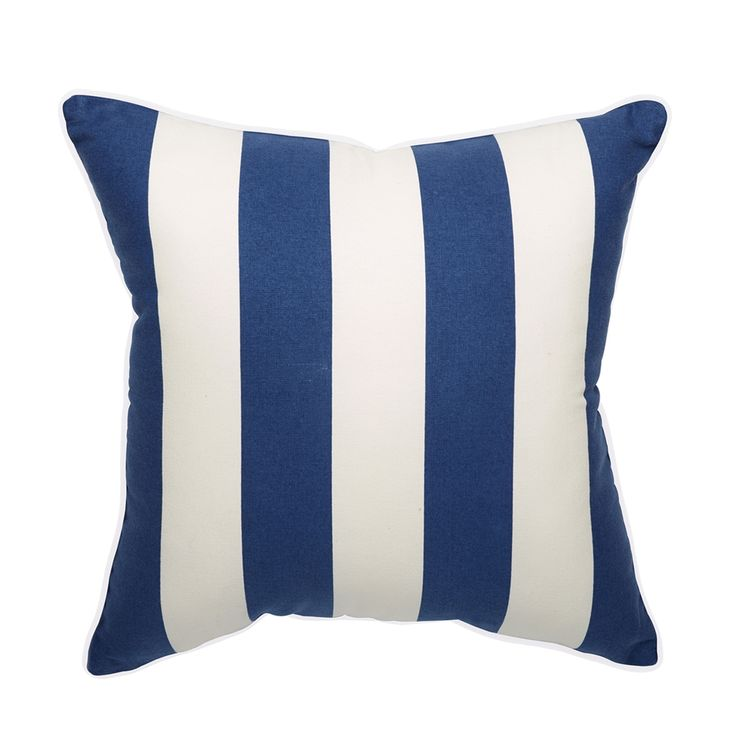 Shop allen + roth  Cabana Blue Striped Outdoor Throw Pillow at Lowe's Canada. Find our selection of outdoor pillows at the lowest price guaranteed with price match + 10% off.