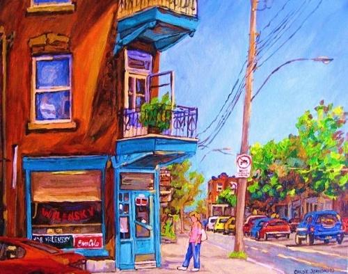 Carole Spandau Fine Art - Montreal summer scene