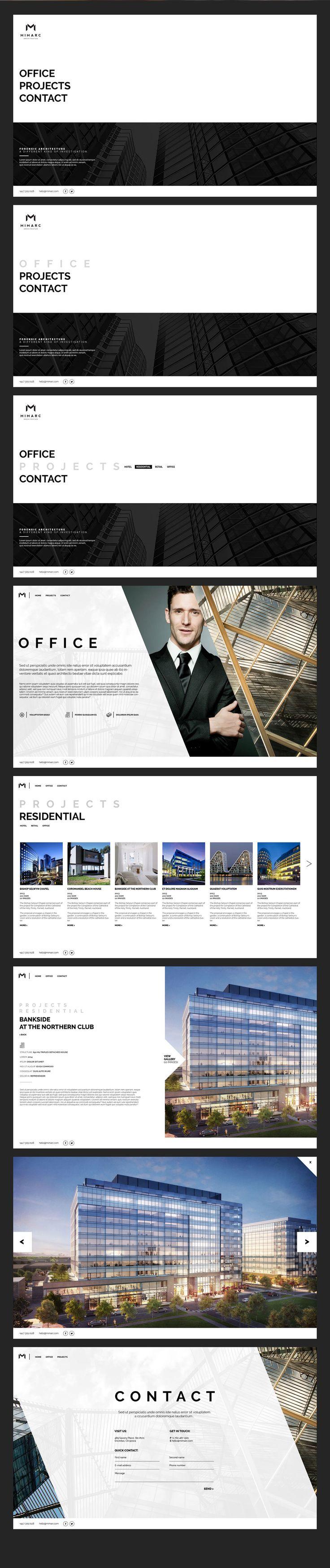 MIMARC - architects website on Behance