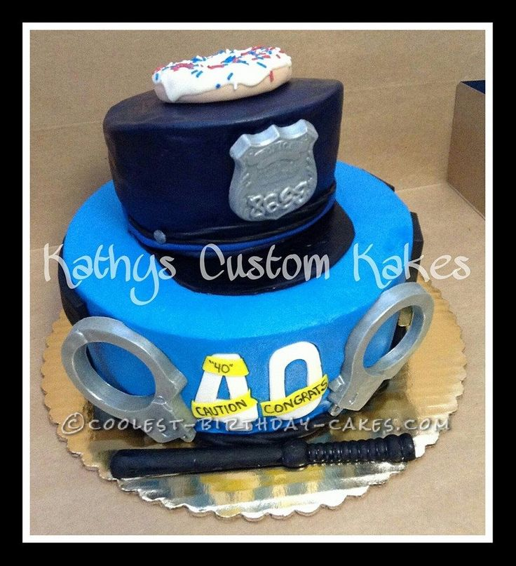 Coolest Cop Cake... This website is the Pinterest of birthday cake ideas