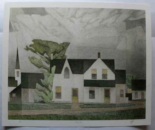 $424.99  Group OF Seven Signed Limited Edition Village House BY A J Casson | eBay