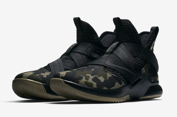 new arrival 62d46 5a411 Nike Lebron Soldier 12 XII SFG Black Camo Shoes -size 14 001 for sale online