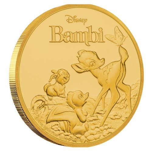 Buy Now: http://goccf.com/pm/bambi-75th-anniversary-quarter-oz-gold-proof-coin  Perth Mint New Release: Bambi 75th Anniversary 2017 1/4oz Gold Proof Coin - Coin Community Forum