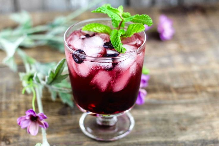 Mint, Blueberry & Cherry Vodka Sour