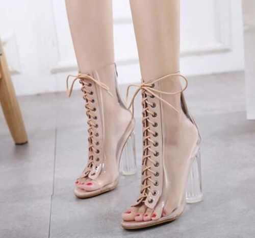 2017-New-fashion-thick-transparent-high-heeled-lace-up-women-sandals-boots-shoes