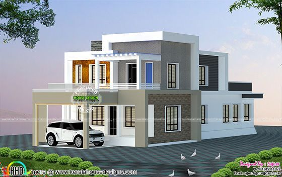 Front Elevation Of House With Flat Roof : Best modern hse images on pinterest homes