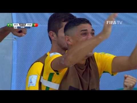 Match 26: Brazil v Portugal – FIFA Beach Soccer World Cup 2017  Watch quarter-final highlights of the match between Brazil and Portugal from the FIFA Beach Soccer World Cup in the Bahamas.  Match 26: Brazil v Portugal – FIFA Beach Soccer World Cup 2017