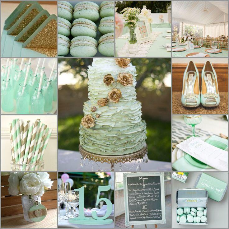 76 best Dcoration mariage vert eau et blanc images on