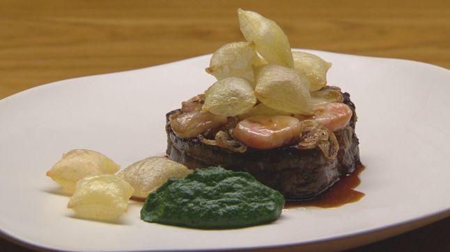 Cette recette de filet de bœuf et pommes soufflées au jus gras a été cuisinée lors du 6e épisode de MasterChef Australie saison 6.