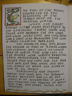 Waldorf ~ 6th grade ~ Medieval History ~ main lesson book