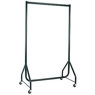 Black heavy duty clothes rails available from stock for immediate dispatch