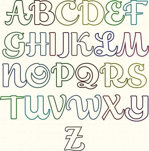 Cursive Script Applique Embroidery Font #76 | Apex Embroidery Designs, Monogram Fonts & Alphabets