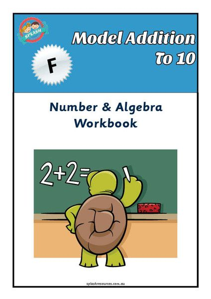 Number: Model Addition to 10 Maths Workbook – Splash Resources