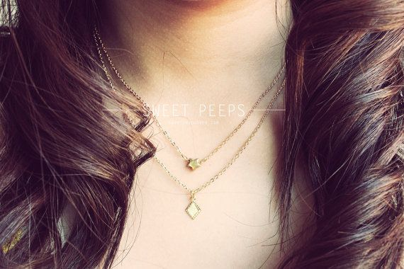 Hey, I found this really awesome Etsy listing at https://www.etsy.com/listing/153579470/2-delicate-gold-tiny-star-and-diamond