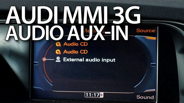 How to activate audio #AUX in #Audi #MMI 3G #A1 #A4 #A5 #A6 #A7 #A8 #Q3 #Q5 #Q7