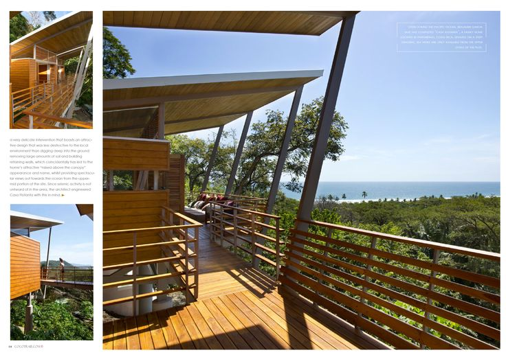 Casa Flotanta, a home floating above the Costa Rican shores. Cocotraie Issue 12 Special Modern Designs.