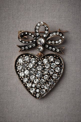 Heart pin.
