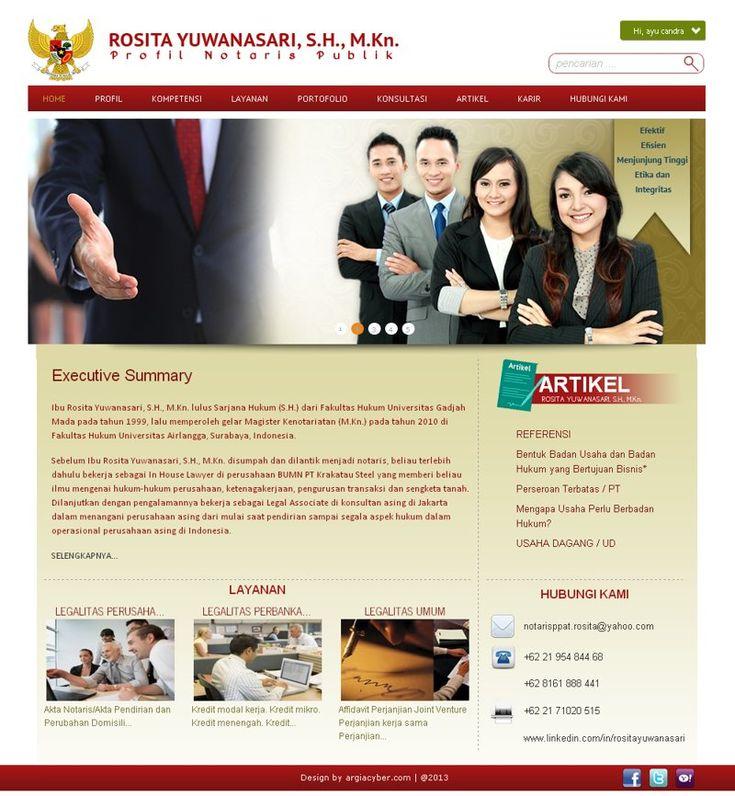 Website Personality Profile seorang Notaris - Ibu Rosita Yuswandari dari Jakarta. notarisrosita.com