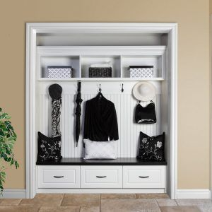 Front Hall Closet Without Doors Entry Closet Home Entryway Closet
