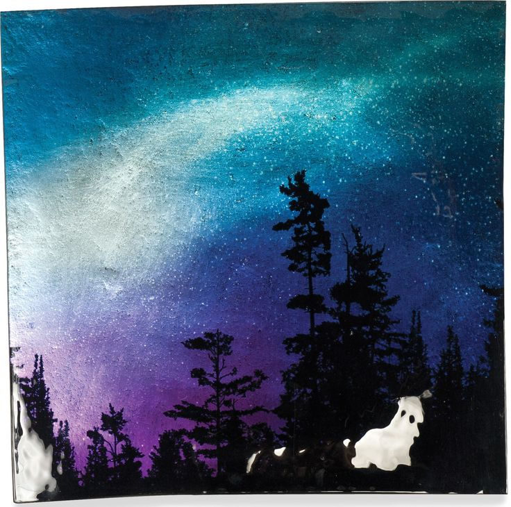 Northern Lights Square Plate (Set of 3)