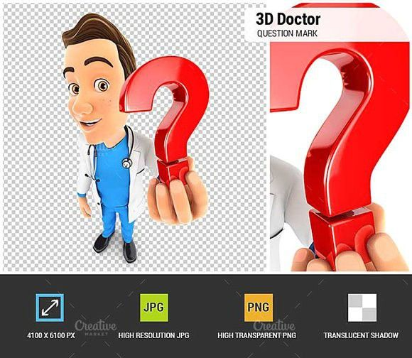 3d Doctor Holding A Question Mark Question Mark Icon This Or That Questions Question Mark
