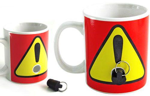 Passive aggressive mug.  You keep the plug, no one uses your mug.
