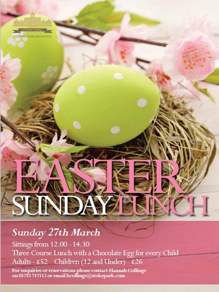 33 best maidenhead easter family fun 2016 images on pinterest easter lunches fun families parks html my family meals lunch meals negle Image collections