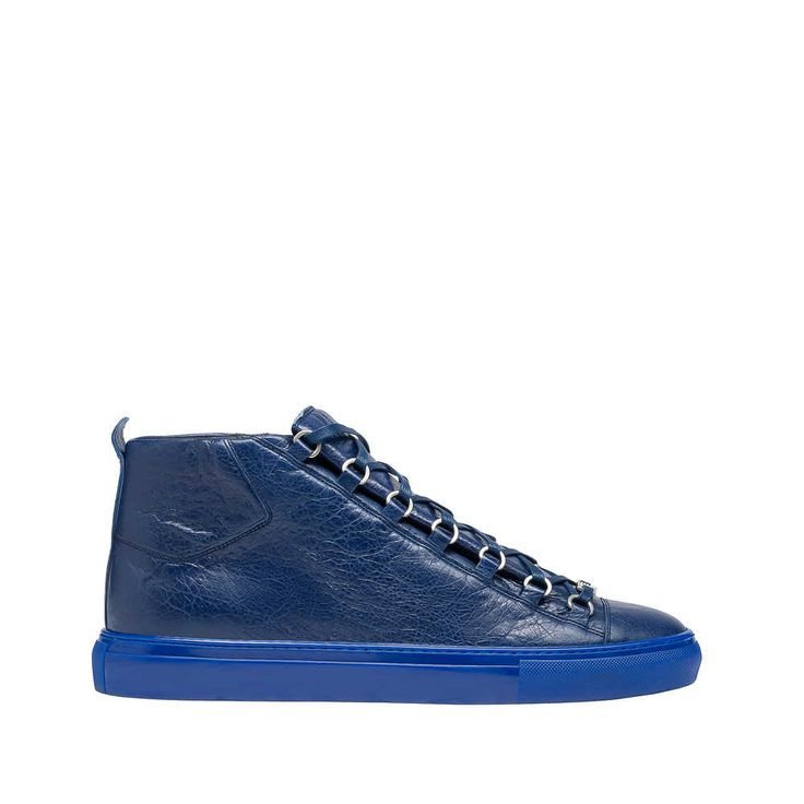 Balenciaga Arena High Sneakers Lambskin sneakers with rubber sole and tone-on-tone laces