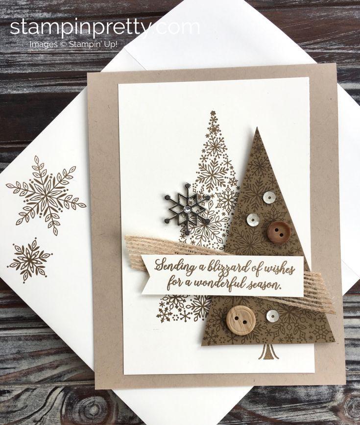 Erstellen Sie eine Weihnachtskarte mit Stampin Up Blizzard of Wishes – Mary Fish