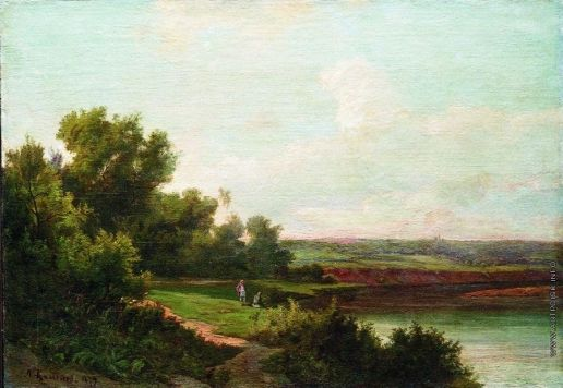Каменев Л. Л. Пейзаж с рыбаками